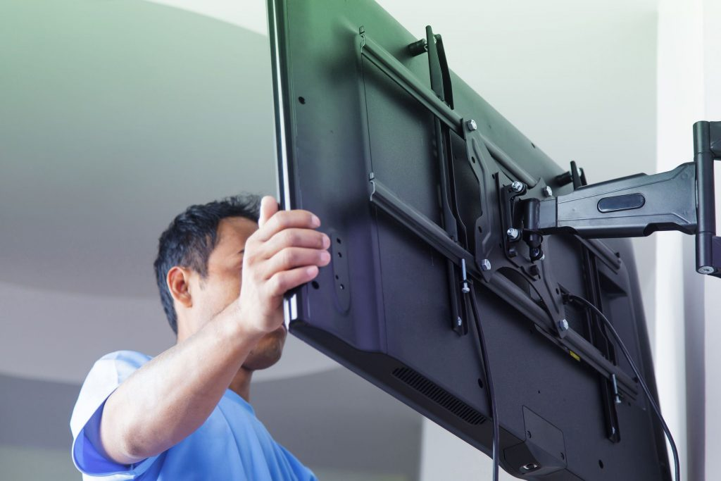 TV wall mount installation